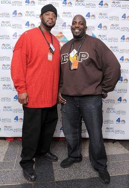 Grizz Chapman and Kevin Brown at the WNBC's Rockefeller Center Tree Lighting celebration.